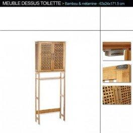 meuble wc bois bambou
