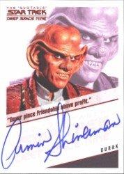 (Quotable Star Trek Deep Space Nine Armin Shimerman Autograph Card)