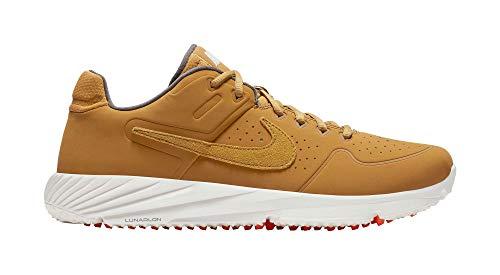 Nike Men's Alpha Huarache Elite 2 Turf Baseball Cleats (M9/W10.5, Tan/White)