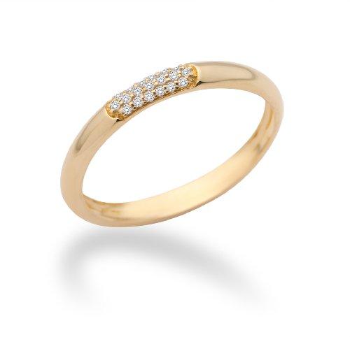 Miore - MF9008RYO - Bague Femme - Or jaune 375/1000 (9 carats) 1.26 gr - Diamant