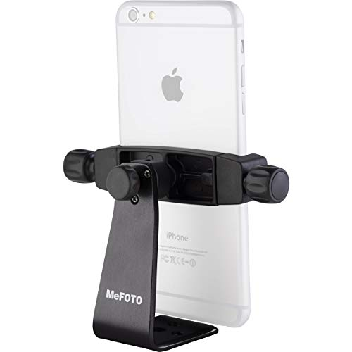 MeFOTO SideKick360 Plus Smartphone Tripod Mount-Stand-Holder, Works with iPhone, Google, HTC, Nexus, Lumia, Galaxy, Xperia and all other Smartphones (see details below) - Black (MPH200K) (The Best Lumia Smartphone)