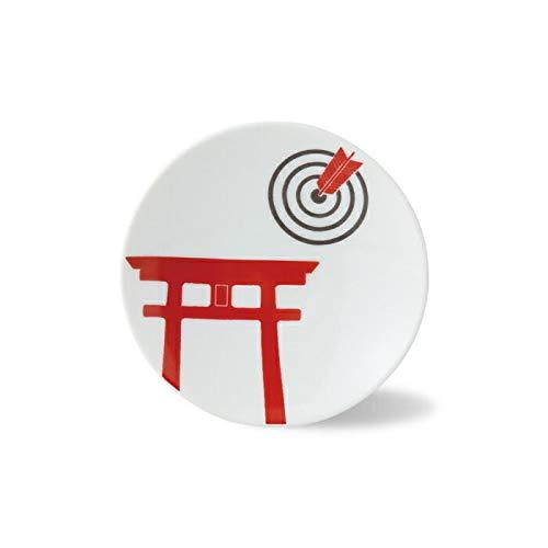 Shrine Gate Japanese Small Dish 14145 from Japan Saikai Pottery Torii