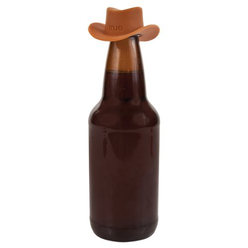 True Howdy Silicone Cowboy Hat Wine Bottle Stoppers (Brown Single)