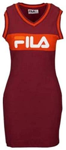 Fila Women's Leigh Rib Varsity Dress Chinese Red/Peacoat S & Towel Bundle