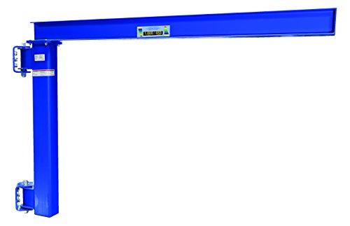 (Vestil JIB-LC-10 Manual Wall Mount Steel Jib Crane, Low Clearance 1000 lb Capacity, 180 degree Rotation, Under I-Beam to Bottom Frame 57