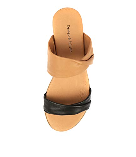 DK DJANGO Flat Sandals Womens JULIETTE BLACK Khaki LEATHER Summer TAN amp; Sandals Khaki HANS pzYPrxpwq