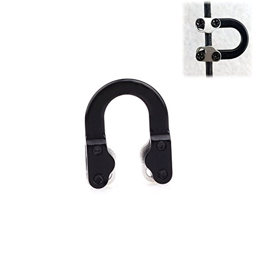 [Archery Bowstring Safe Release Metal D Loop for LED Arrow Nock Hunting] (Bowstring Nock)