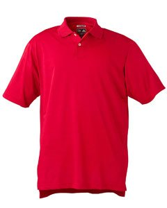 adidas Golf Men's Climacool Mesh Solid Textured Polo, University Red, L