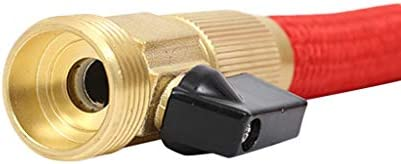 XIANJING 100FT Flexible Garden Hose ,High-pressure Car Wash Water Guns,Magic water hose Anti-leakage with Solid Brass FittingFor Indoor Outdoor Garden(red) (Size : 100FT)