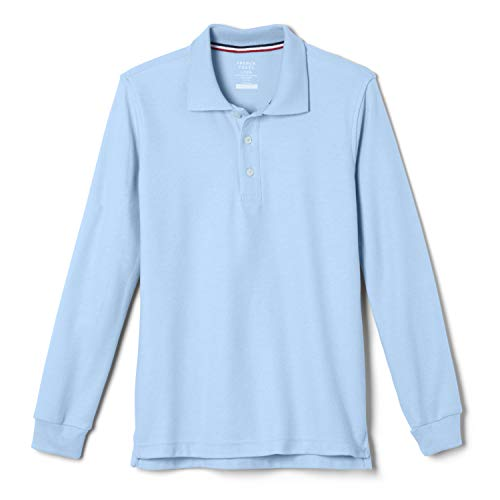 French Toast Boys'  Long-Sleeve Pique Polo Shirt Light Blue, M (8),Big Boys (M And M Boys)