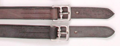 EquiRoyal English Stirrup Leathers, Earthen, 1  Wide X 54  Long