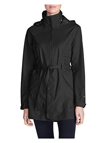 Eddie Bauer Women's Kona Trench Coat, Black Plus 2X