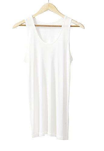 Mens Silk Knit Tank Top - XZ-Rain Men's Mulberry Silk Tank Top Men Knit Sleeveless T-Shirts (White, XL)