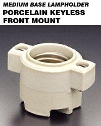 Leviton 9885 Medium Base Front Mount Incandescent Keyless La