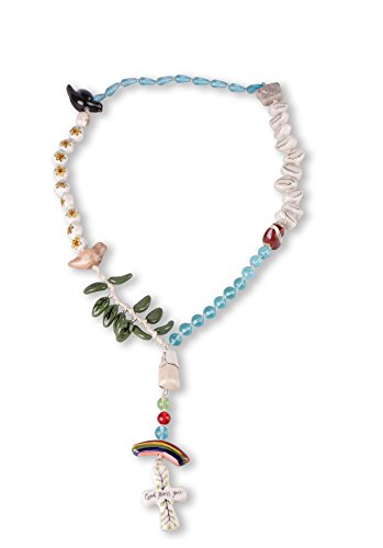 Blue Sky Ceramic Rosary Necklace product image