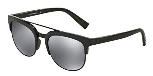 D&G Dolce & Gabbana Women's 0DG6103 Square Sunglasses, Black, 55 mm