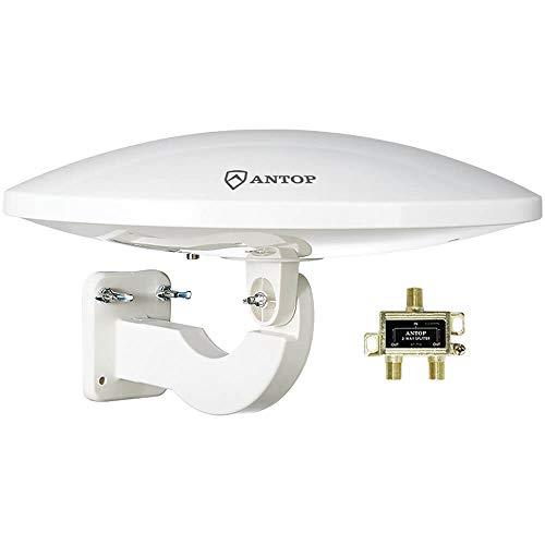 Al aire última intervensión Antena de TV para múltiples televisores, Antop UFO amplificada azotea/ático/RV/Marine antena...