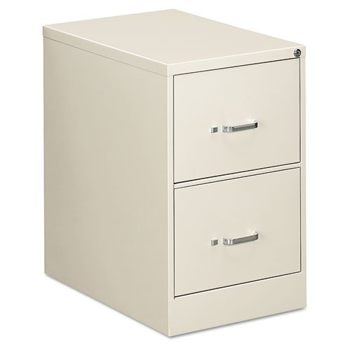 OIF Two-Drawer Economy Vertical File, 18-1/4w x 26-1/2d x 29h, Light Gray