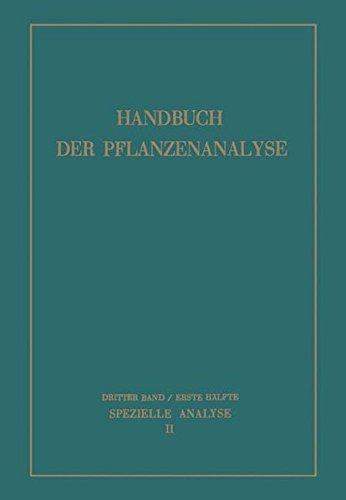 Spezielle Analyse: Organische Stoffe II (German Edition)