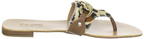 Via Uno Leather - Jaguar Fur Noble / Zebra 21101606 Damen Hausschuhe Beige (Duna/Camelo)