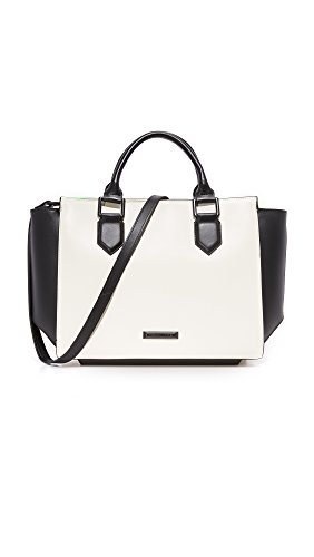 KENDALL + KYLIE Women's Brook Satchel, Ivory/Black, One - White Kendall Black And And Kylie