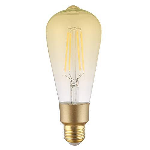 LUMIMAN Smart WiFi Light Bulb, LED ET64 E26 Dimmable Glass Vintage Edison Bulb, Compatible with Amazon Alexa and Google Home Assistant, No Hub Required