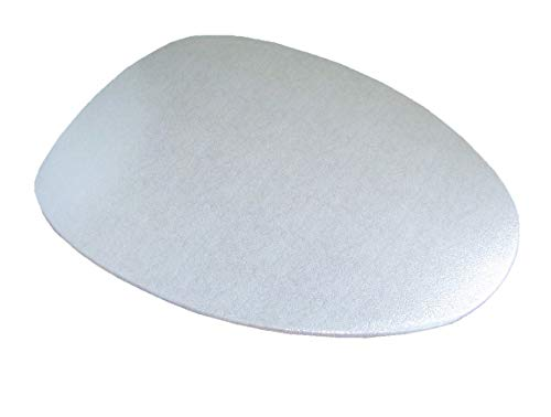 Special Shiny Edition of Fabric Cover for a lid Toilet SEAT for Round & Elongated Models - Handmade in USA (Metallic)