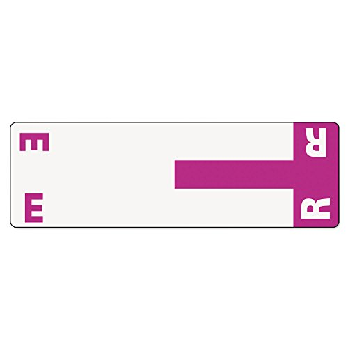 (SMD67156 - Smead 67156 Purple AlphaZ NCC Color-Coded Name Label - E R)