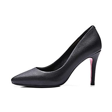 Lvyuan Gris À Talon Décontracté Femme Gray Aiguille Polyuréthane Talons Confort Plat Noir ggx Printemps Chaussures rxRw74r1