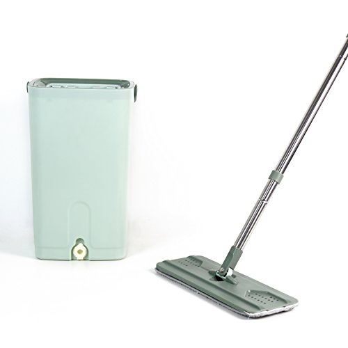 Helang Wet Mop Flat with Bucket PP material Squeezing Mop Wash Dry Home Floor Cleaning Tools by Helang (Image #6)