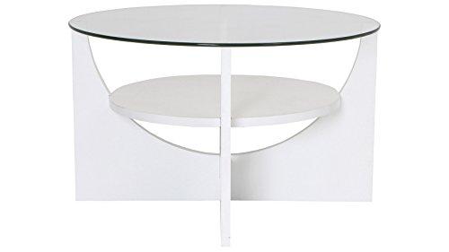 Zuri Furniture Modern Globus Glass Coffee Table White