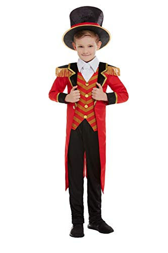 Smiffys 51021M Deluxe Ringmaster Costume, Boys, Red, M - Age 7-9 years ()