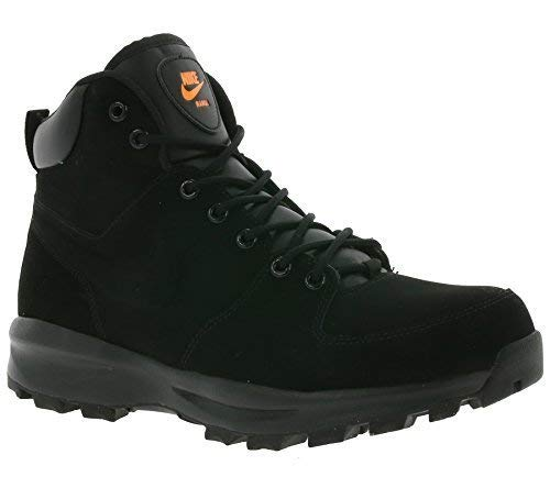 reputable site 6fcf7 f7898 Galleon - Nike Manoa Leather Mens Boots 454350-080 9.5 - Black Total Orange  Black