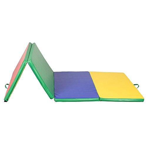 4'x8'x2″ Gymnastics Mat Gym Folding Panel Exercise Tumbling Yoga Pad Multi-color