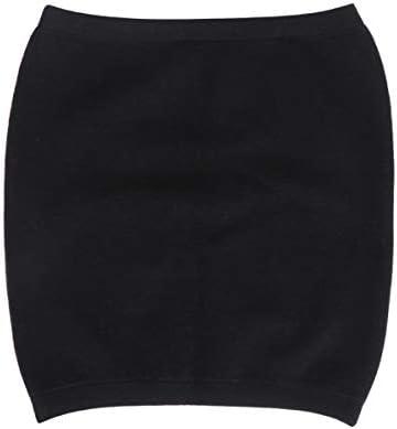Healifty Winter Kaschmir Nierenwärmer Rückenwärmer Elastic Taille Unterstützung Taille Beschützer für Damen Herren Hexenschuss Rückenschmerzen Schwarz Größe S
