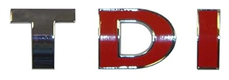 TDI coche emblema logo insignia cromada Turbo Inyección de diésel