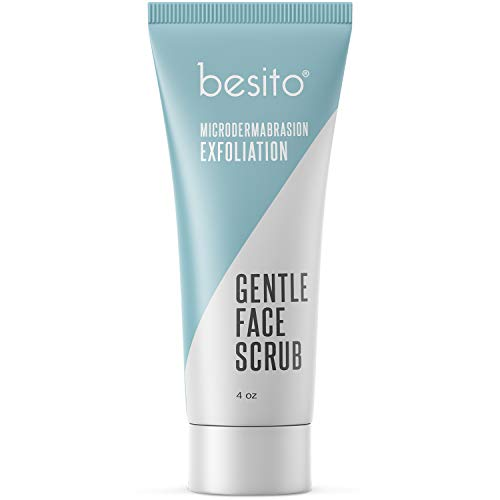 Microdermabrasion Face Scrub and Facial Exfoliator. Gentle Formula for Blackheads, Reducing Pore Size, Improving Acne Scars and Skin Texture.