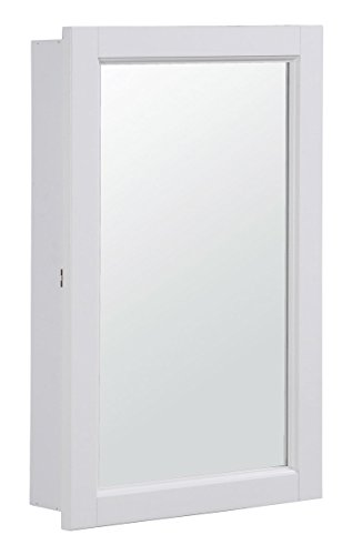 Design House 590505 16x26 Concord Ready-To-Assemble Single Door Medicine Cabinet, White by Design House