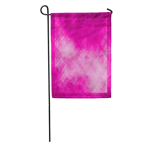 - Semtomn Garden Flag Colorful Solid Abstract Pink Purple Color Hot Announcement Beautiful Birth Home Yard House Decor Barnner Outdoor Stand 12x18 Inches Flag