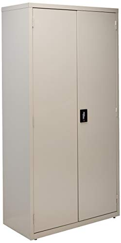 Lorell LLR41306 Fortress Series Storage Cabinets, Light Gray