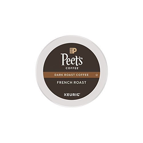 Peet's Coffee, French Roast, Devilish Roast, K-Cup Pack (16 ct.), Single Cup Coffee Pods, Bold Dark Roast Blend of Latin American Coffees, with A Smoky, Flavorful Sting; for All Keurig K-Cup Brewers