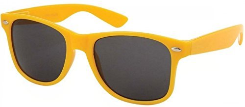 Sunglasses Classic 80's Vintage Style Design - Bans Yellow Wayfarer Ray