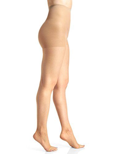 Berkshire Women's Hose Without Toes Ultra Sheer Control Top Pantyhose 5115, Nude, 4
