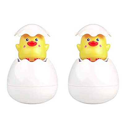 zoylink 2PCS Squirt Toy Cute Bathtub Toy Bath Squirter Bath Toy for Toddlers Kids: Toys & Games