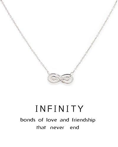Zealmer Necklace Friendship Infinity Message