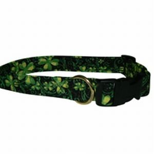 St Patrick's Day Touch of Luck Shamrock Dog Collar Sizes: S to XL