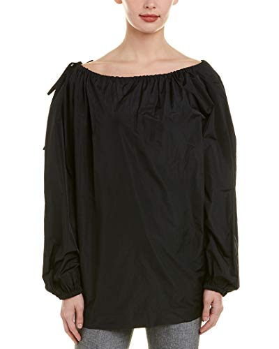 Escada Womens Silk-Blend Top, 38, Black - Escada Shirt Top