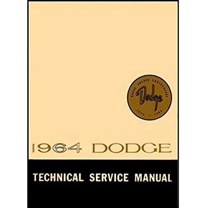 amazon com factory shop service manual for 1964 dodge polara  1964 dodge polara wiring diagram #9