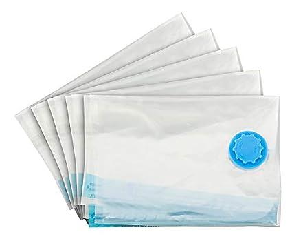 1Plus 5 – Juego de bolsas para envasar al vacío en diferentes tamaños, con y sin Bomba de vacío, Sin bomba de vacío 1PLUS, transparente, 50 x 70 cm