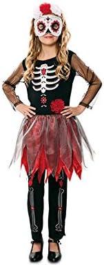 Disfraz de Catrina Esqueleto para niña: Amazon.es: Juguetes y juegos
